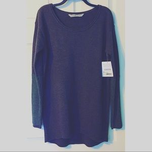 Athleta Merino Nopa Sweater NWT New Purple Gray